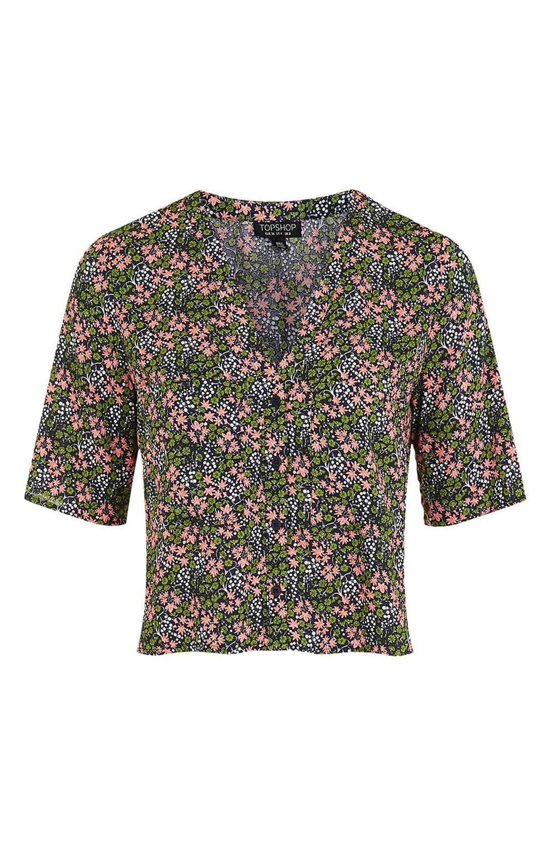 Alternate Image 5  - Topshop 'Holly' Ditsy Floral Print Shirt