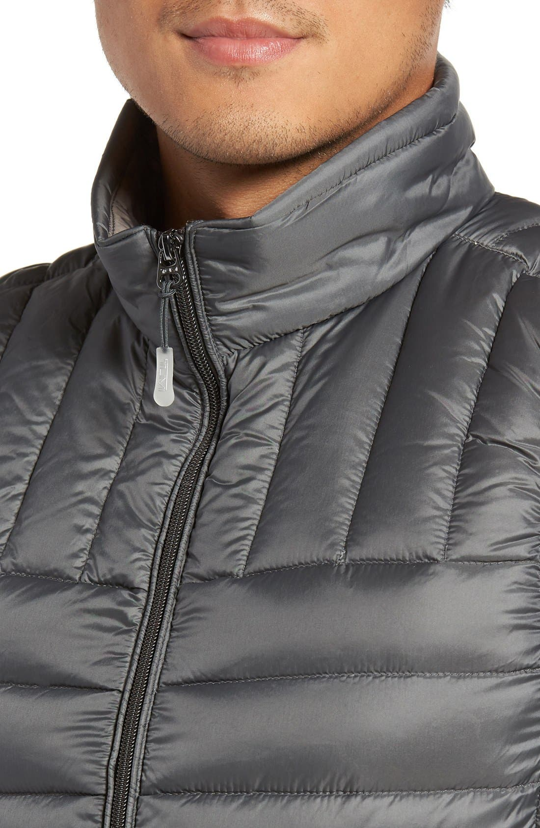 Packable Down Vest,                             Alternate thumbnail 4, color,                             Slate Grey