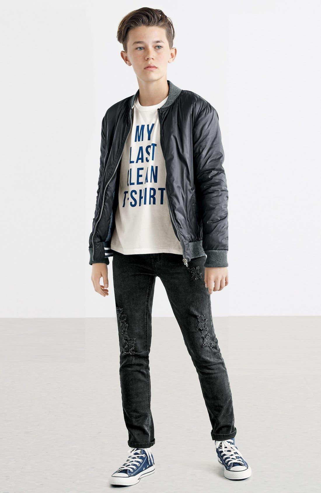 Alternate Image 2  - Junk Food 'My Last Clean T-Shirt' Graphic T-Shirt (Big Boys)