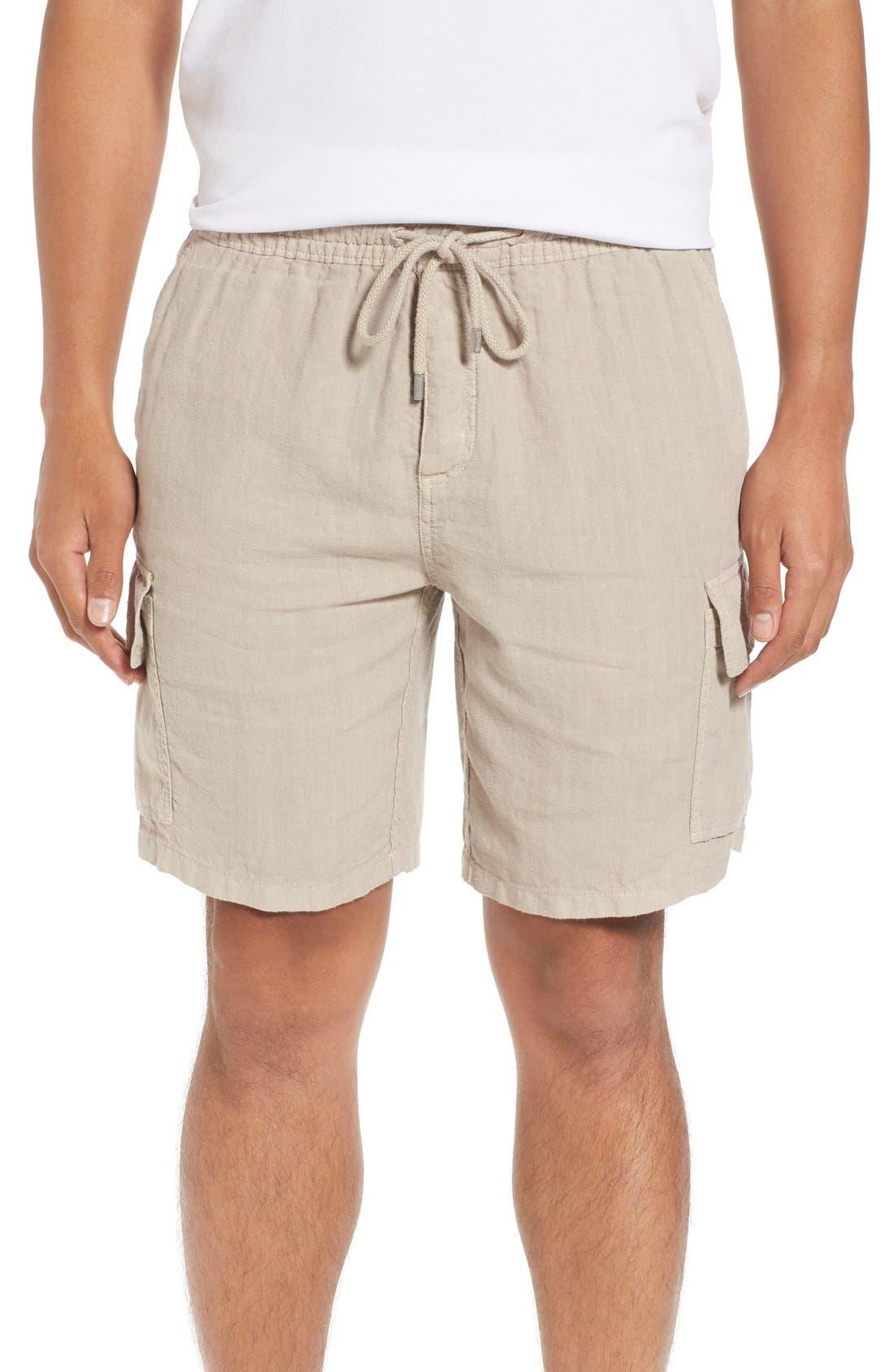 Vilbrequin Linen Cargo Shorts,                             Main thumbnail 1, color,                             Jute