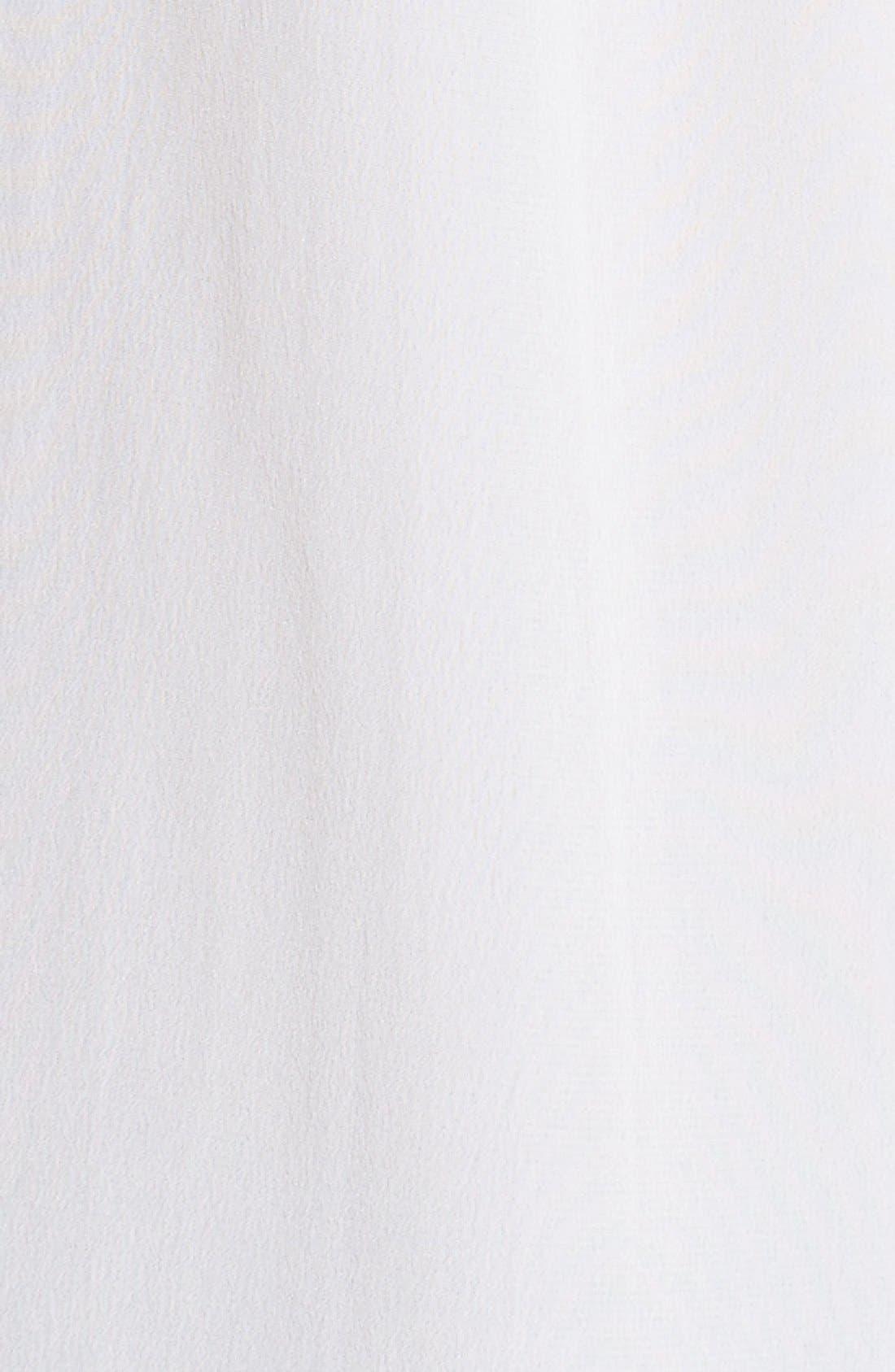 'Signature' Crop Three Quarter Sleeve Shirt,                             Alternate thumbnail 5, color,                             Bright White