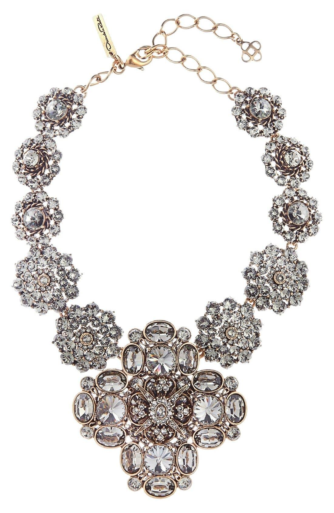 Jewel Collar Necklace,                         Main,                         color, Black