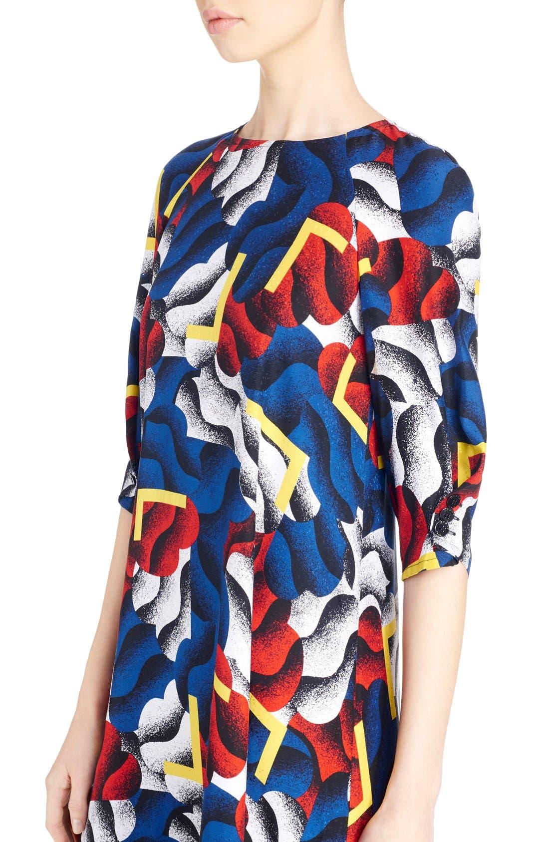Alternate Image 3  - KENZO 'Clouds & Corners' Print Silk Dress
