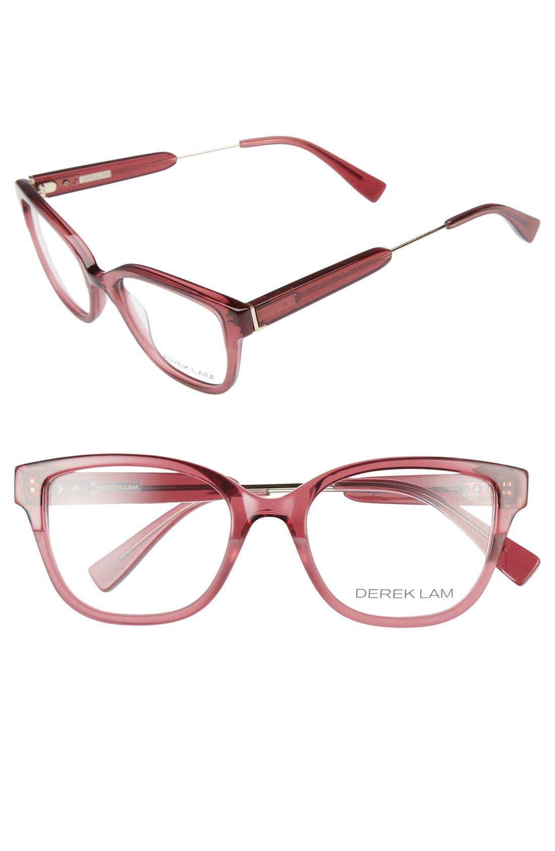 50mm Optical Glasses,                             Main thumbnail 1, color,                             Dark Pink