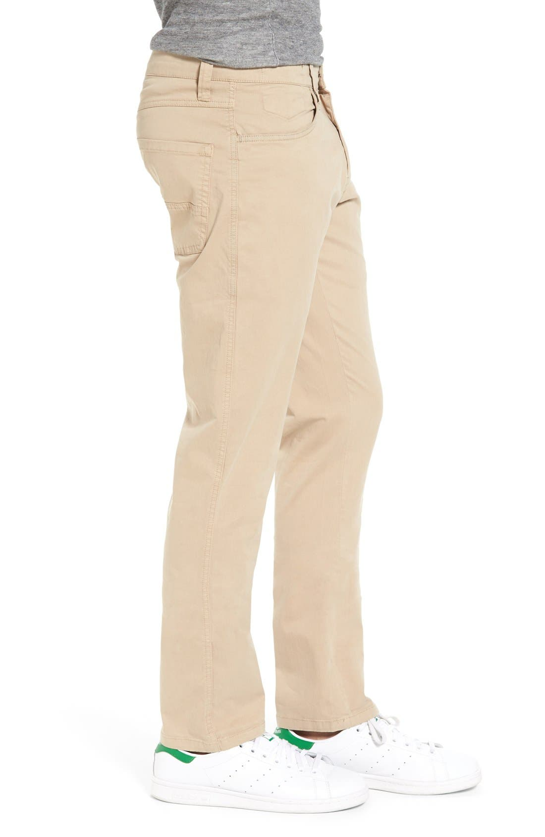'Sunny' Slim Fit Stretch Twill Pants,                             Alternate thumbnail 3, color,                             Khaki
