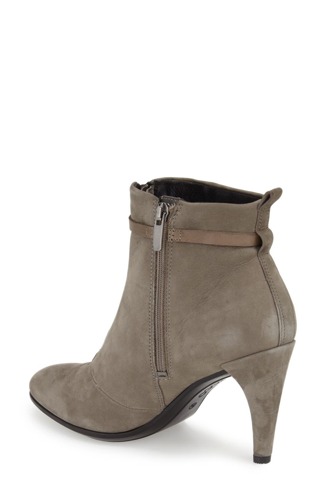 'Shape 75' Bootie,                             Alternate thumbnail 2, color,                             Warm Grey Nubuck Leather