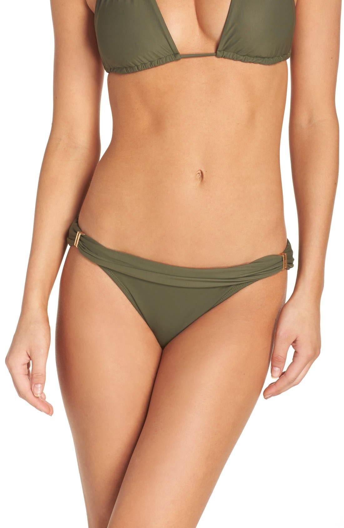 'Bia' Bikini Bottoms,                         Main,                         color, Military