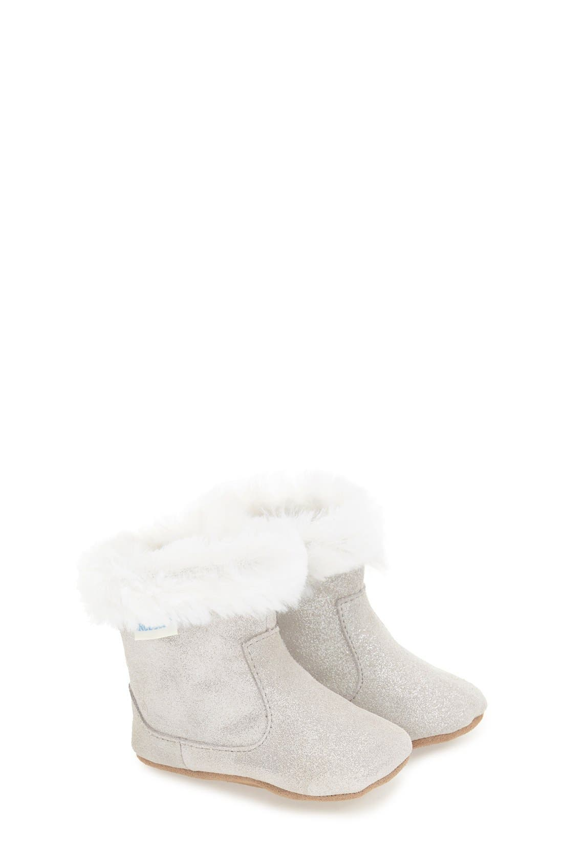 'Thea Twinkle' Bootie,                             Main thumbnail 1, color,                             Grey Sparkle Suede