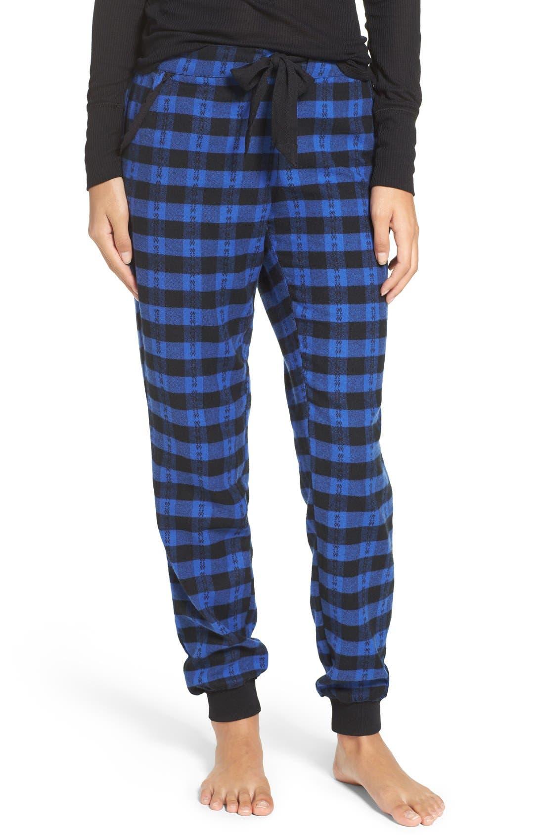 Main Image - Make + Model Plaid Flannel Lounge Pants