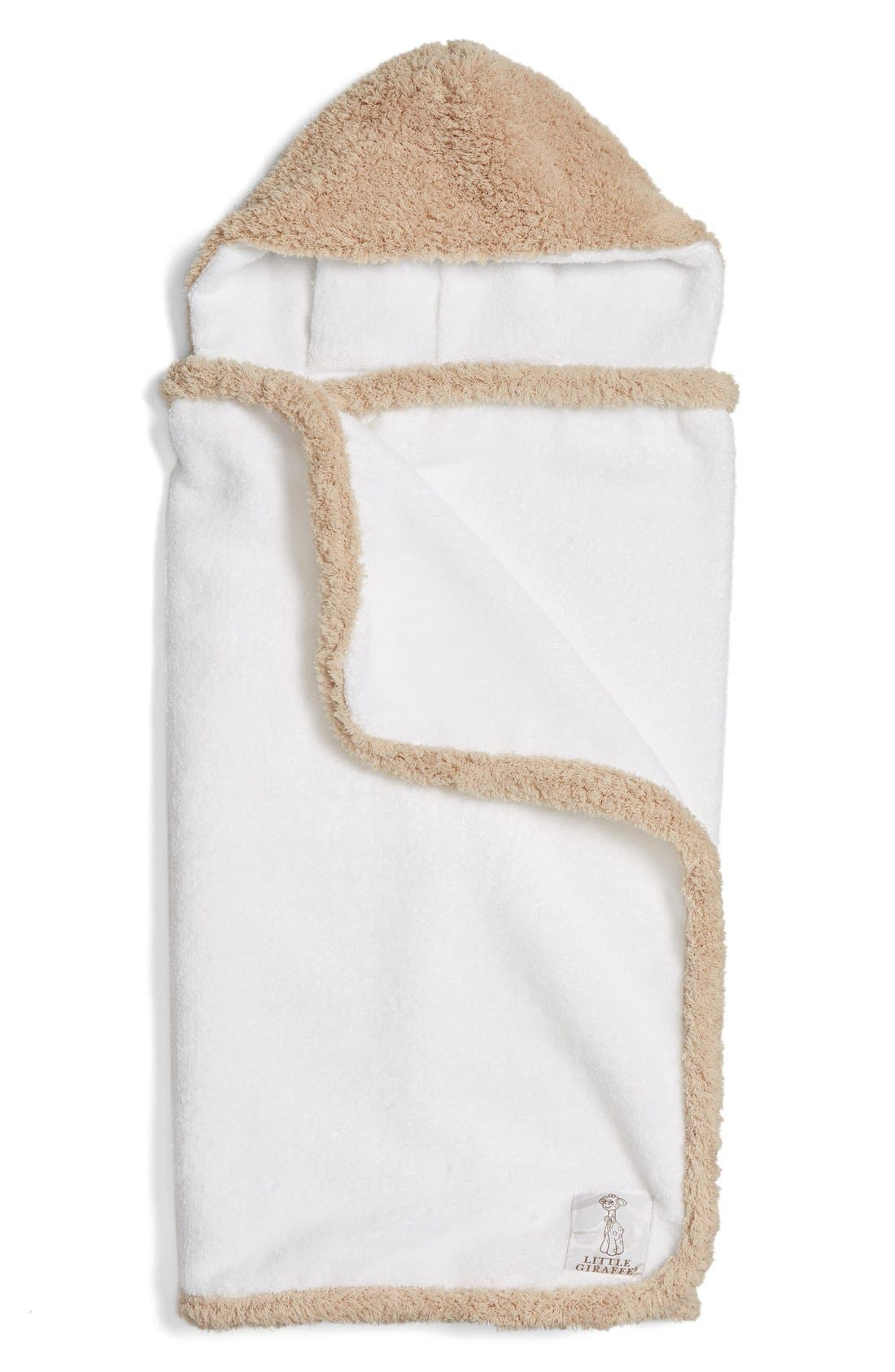 Chenille Hooded Towel,                         Main,                         color, Latte