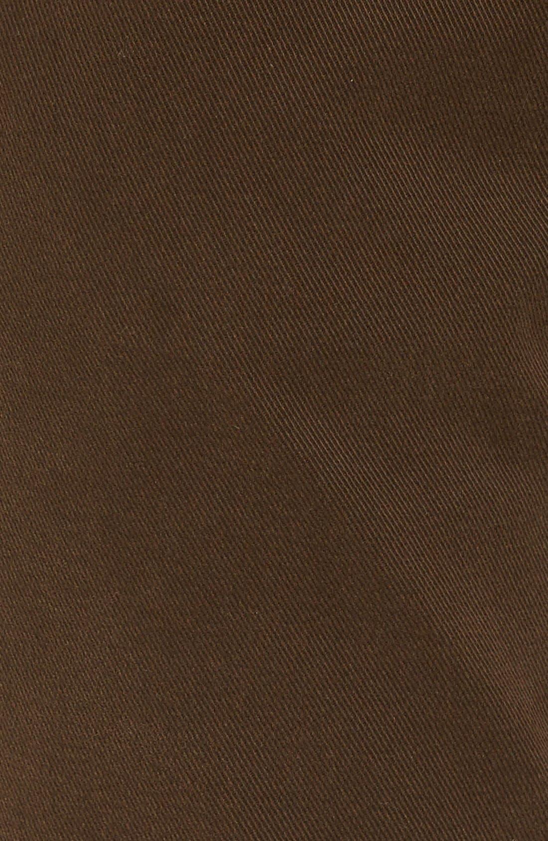 'Barters' Straight Leg Twill Pants,                             Alternate thumbnail 5, color,                             Dark Tobacco