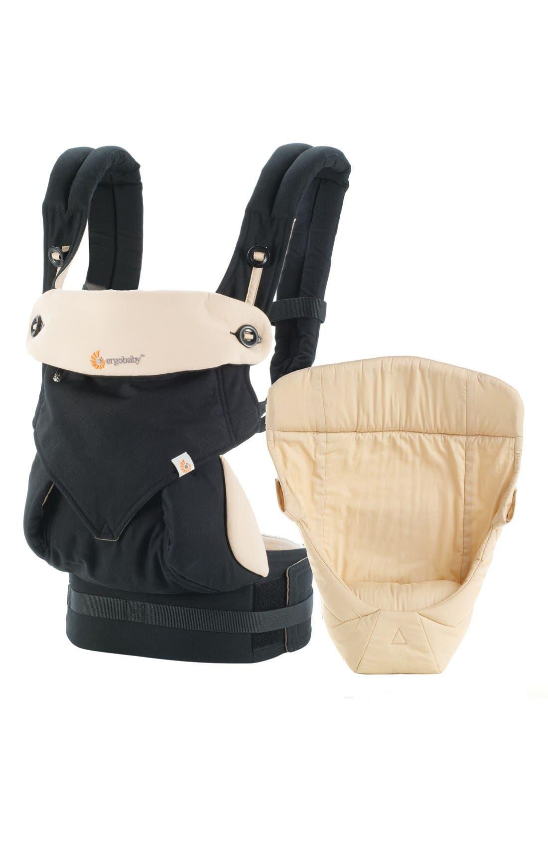 'Four Position 360 - Bundle of Joy' Baby Carrier & Infant Insert,                         Main,                         color, Black/ Camel