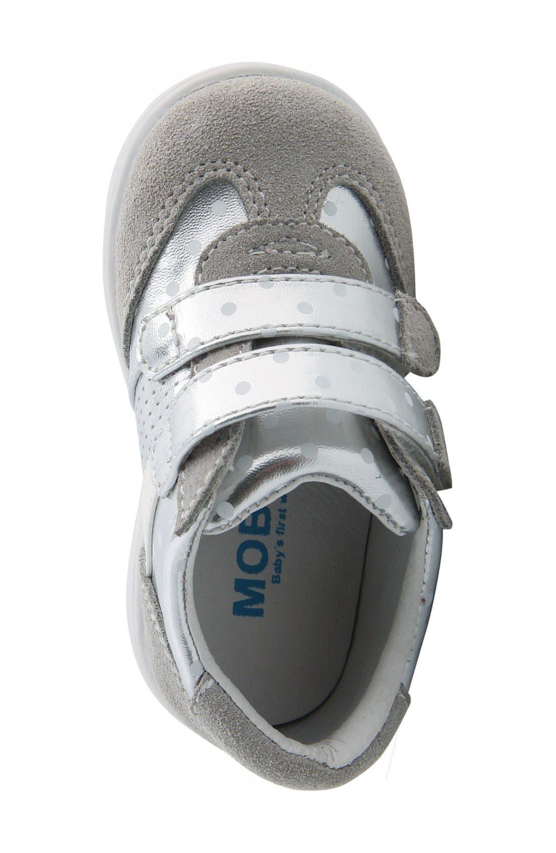 Nina 'Everest' Sneaker,                             Alternate thumbnail 3, color,                             Silver