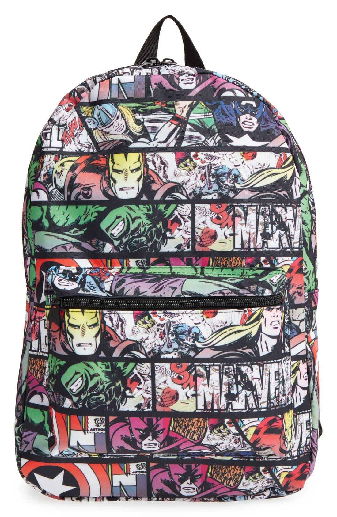 Alternate Image 1 Selected - Marvel 'Quick Turn Comic' Backpack (Kids)
