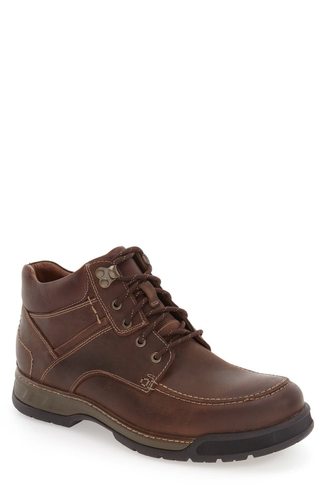 Waterproof Moc Toe Boot,                         Main,                         color, Tan