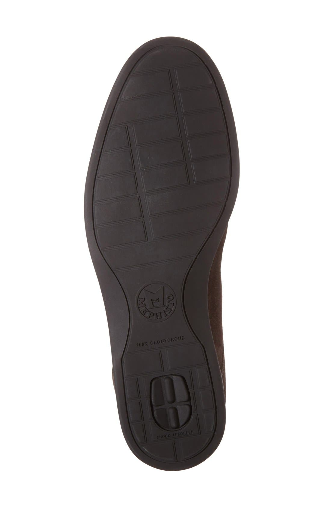 'Stelio' Chukka Boot,                             Alternate thumbnail 4, color,                             Dark Brown Suede