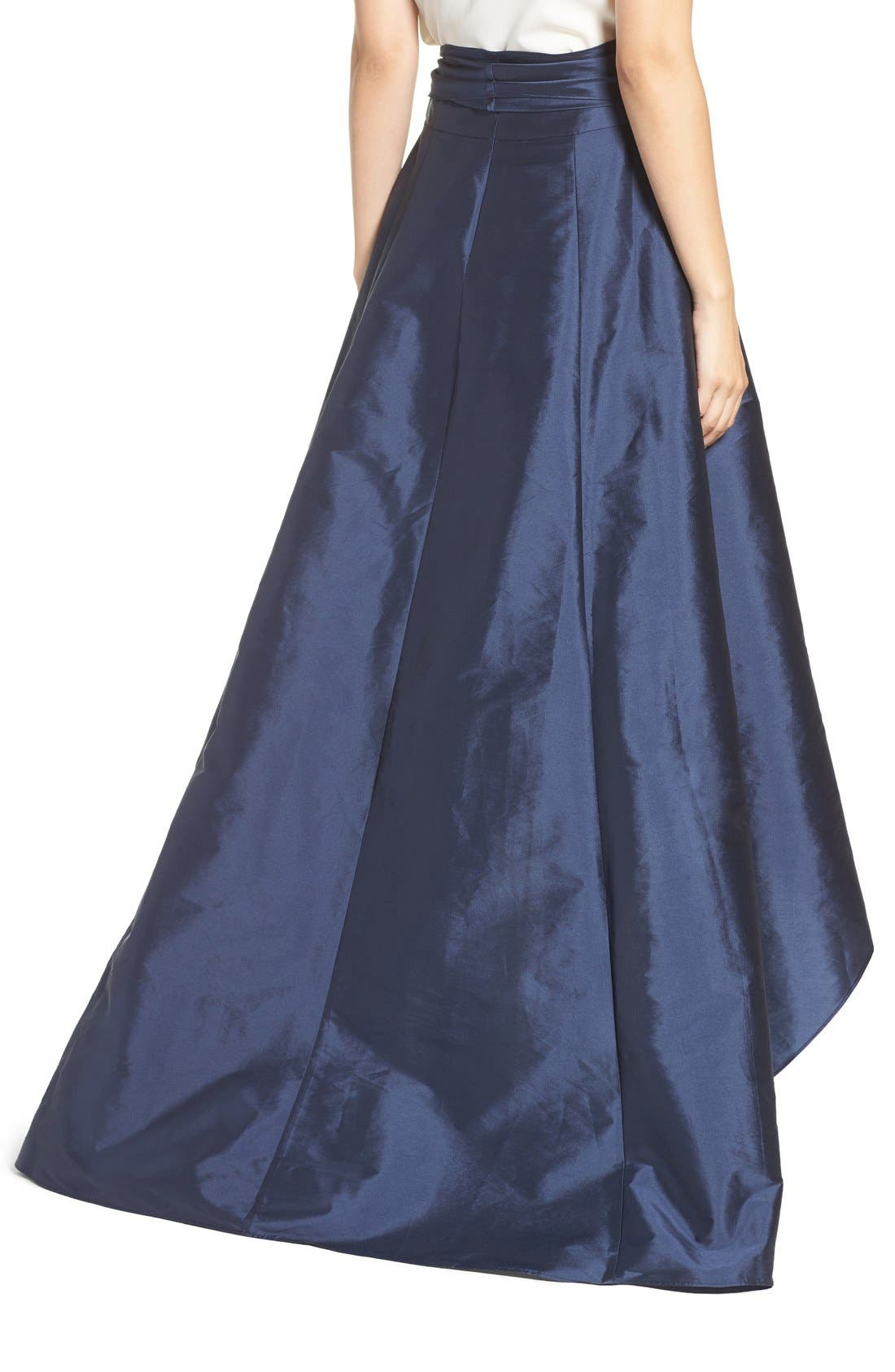 Alternate Image 2  - Adrianna Papell High/Low Taffeta Ball Skirt