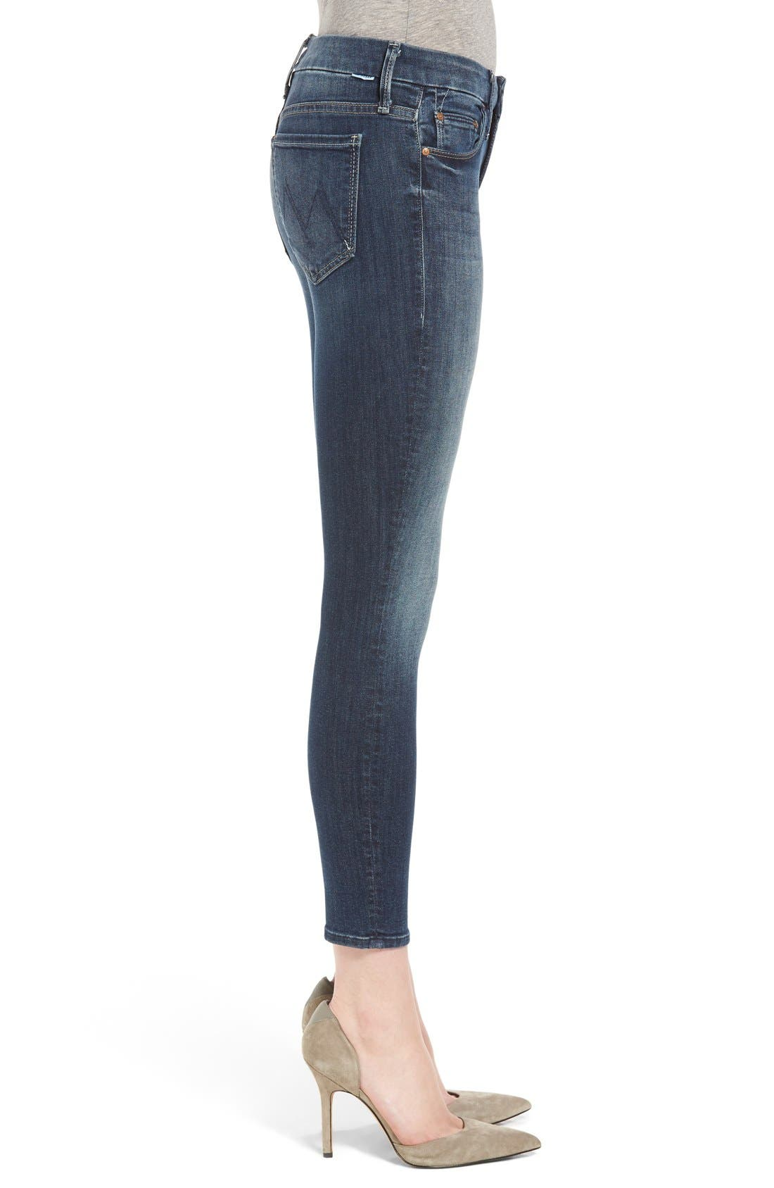 Alternate Image 3  - MOTHER 'The Looker' Crop Skinny Jeans (Here Kitty Kitty)