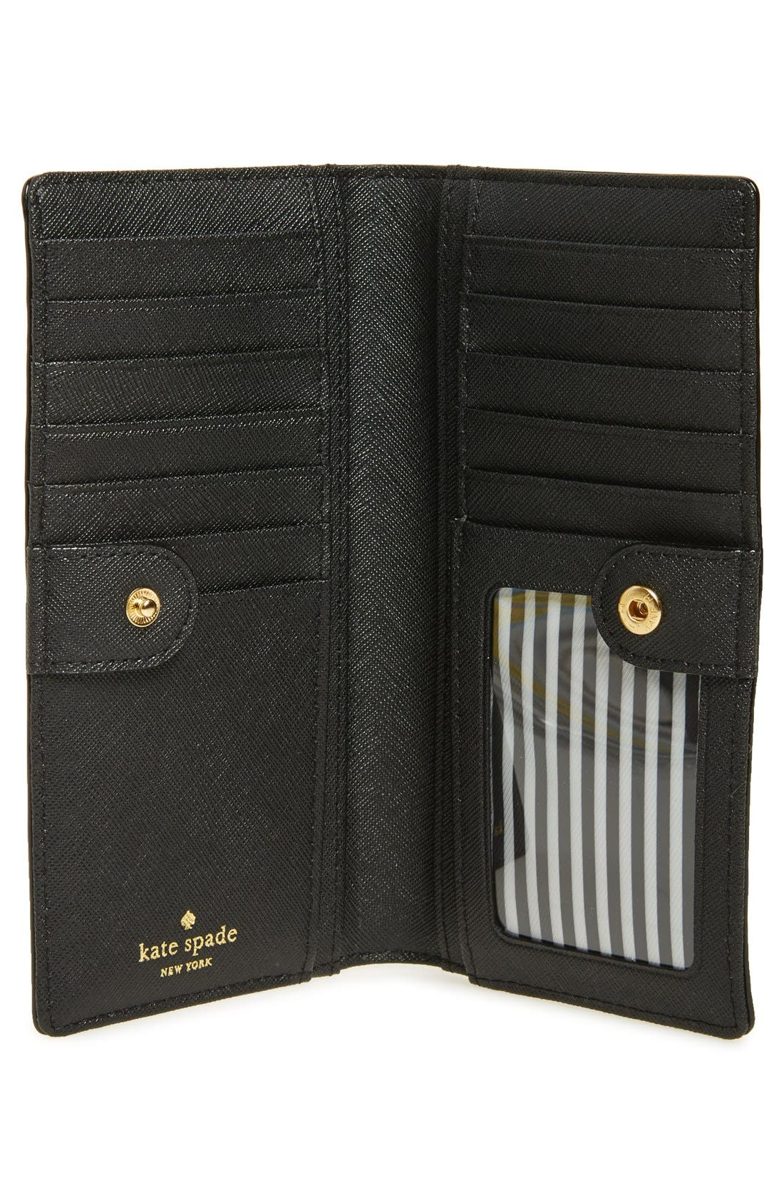 'cameron street - stacy' textured leather wallet,                             Alternate thumbnail 2, color,                             Black