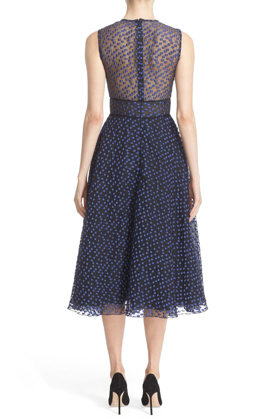 Alternate Image 2  - Lela Rose Dotted Organza Fit & Flare Midi Dress