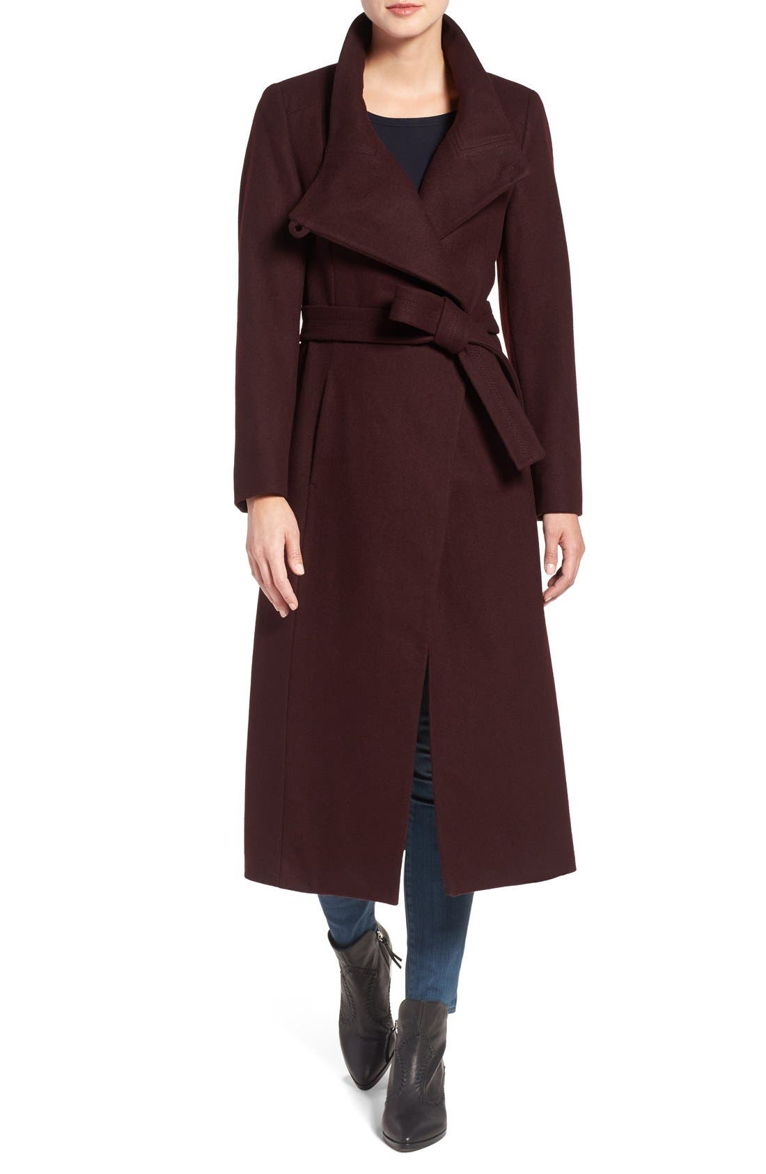 Kenneth Cole New York Wool Blend Maxi Wrap Coat