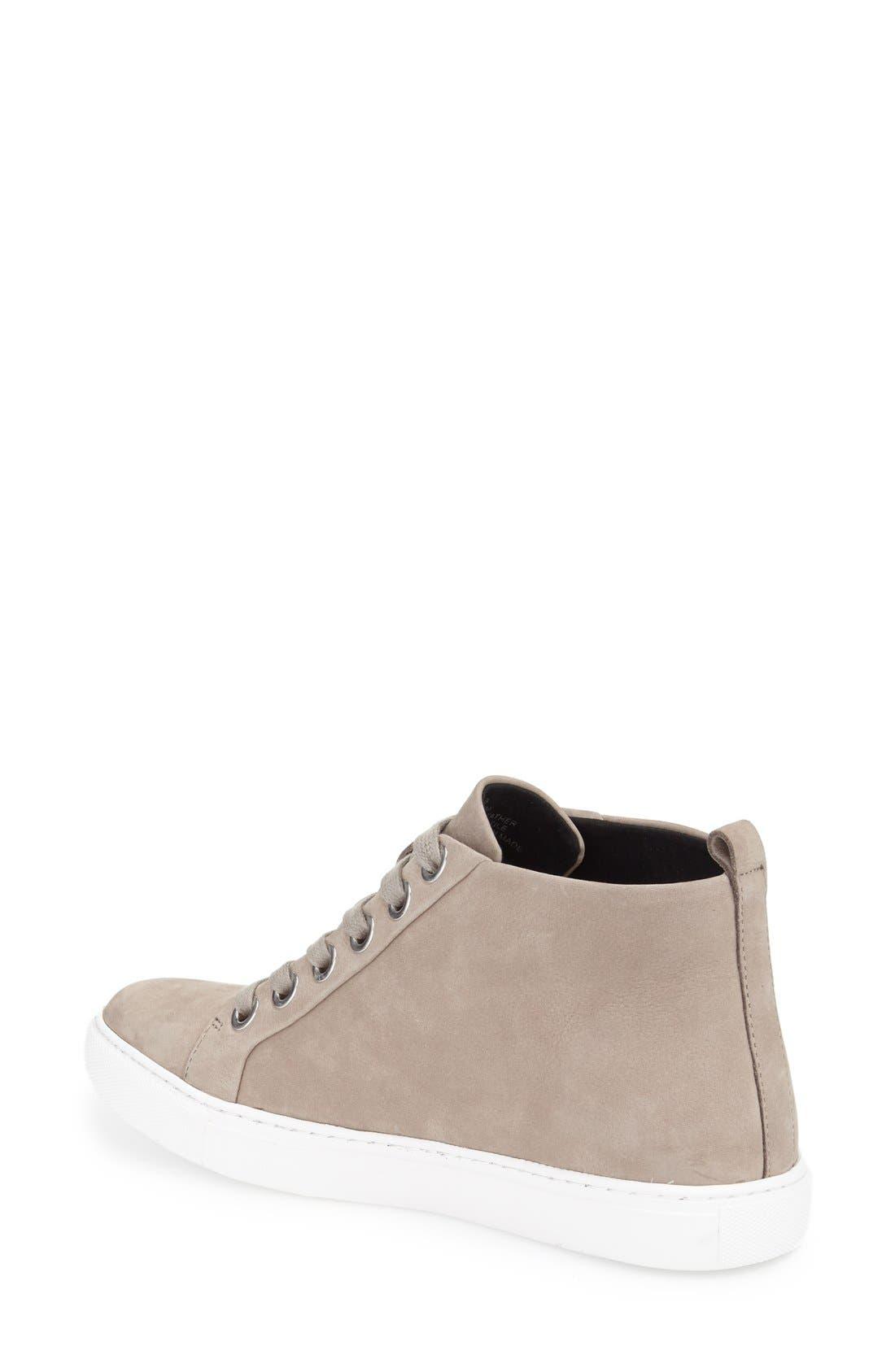 'Kaleb' High Top Sneaker,                             Alternate thumbnail 2, color,                             Cloud Nubuck Leather