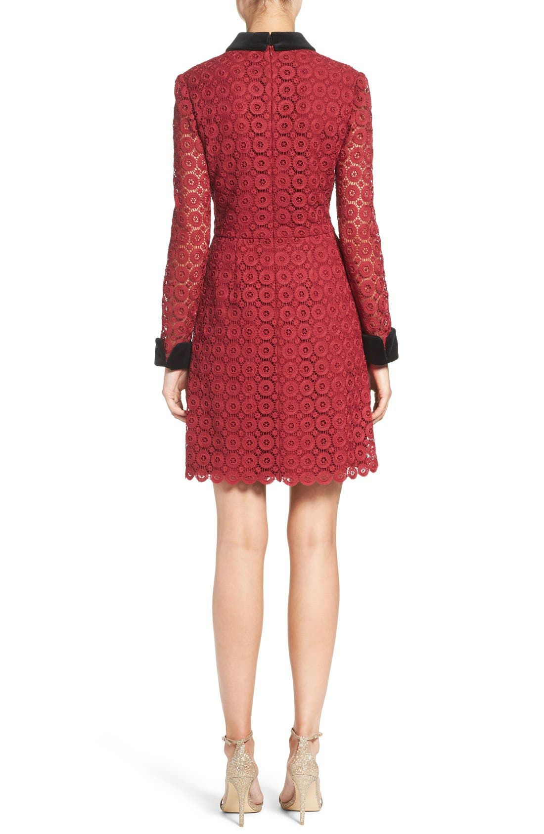 Alternate Image 2  - Jill Jill Stuart Velvet & Lace Shirtdress
