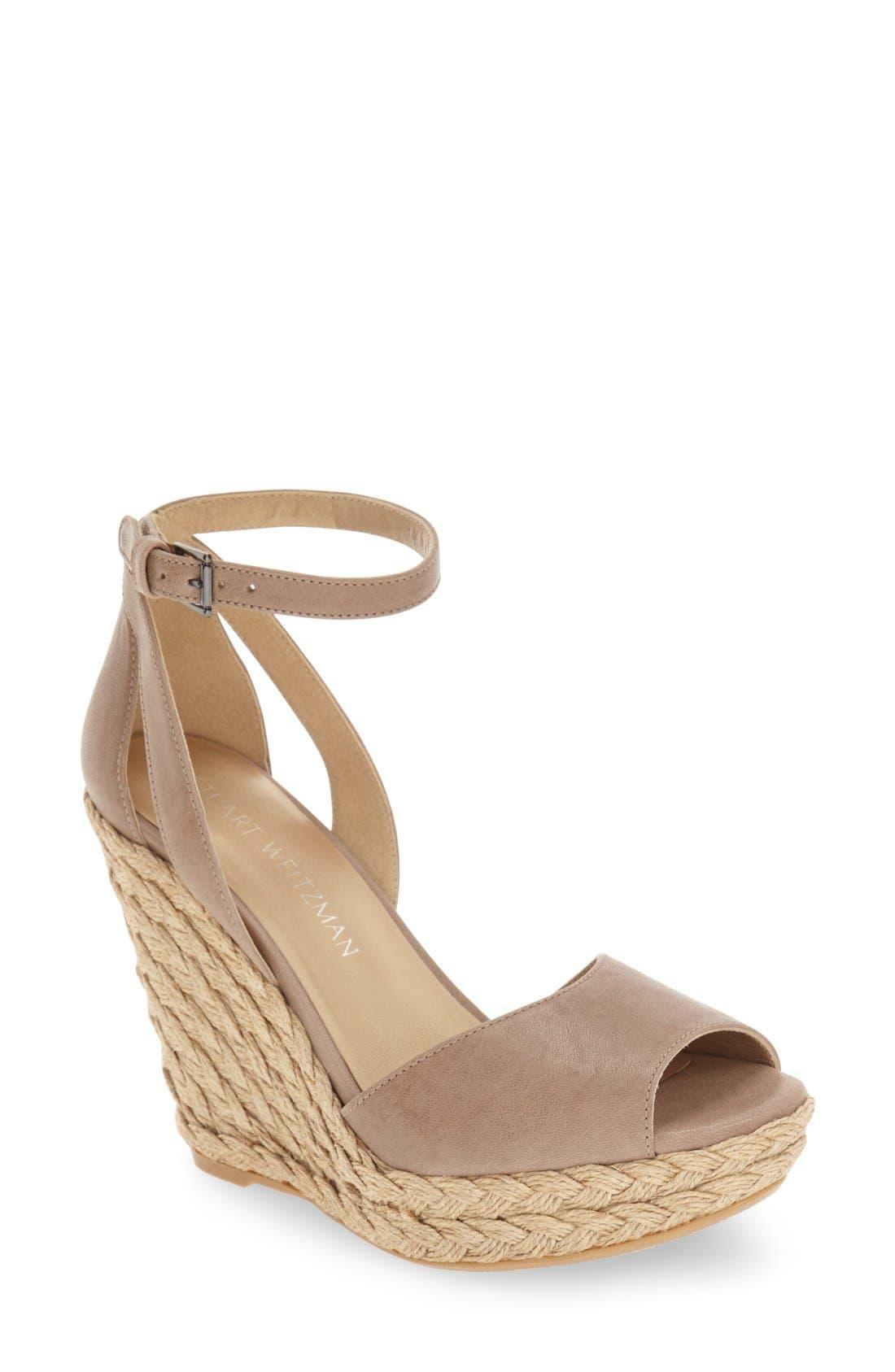 Main Image - Stuart Weitzman 'Hijinx' Espadrille Platform Wedge Sandal (Women)