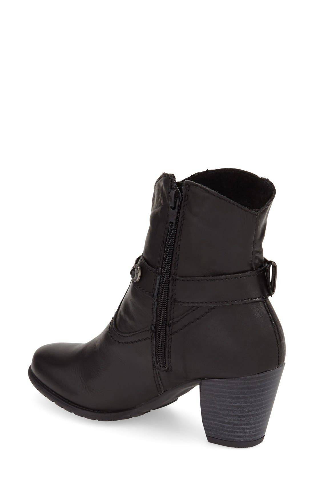 'Ramona' Boot,                             Alternate thumbnail 2, color,                             Black Leather