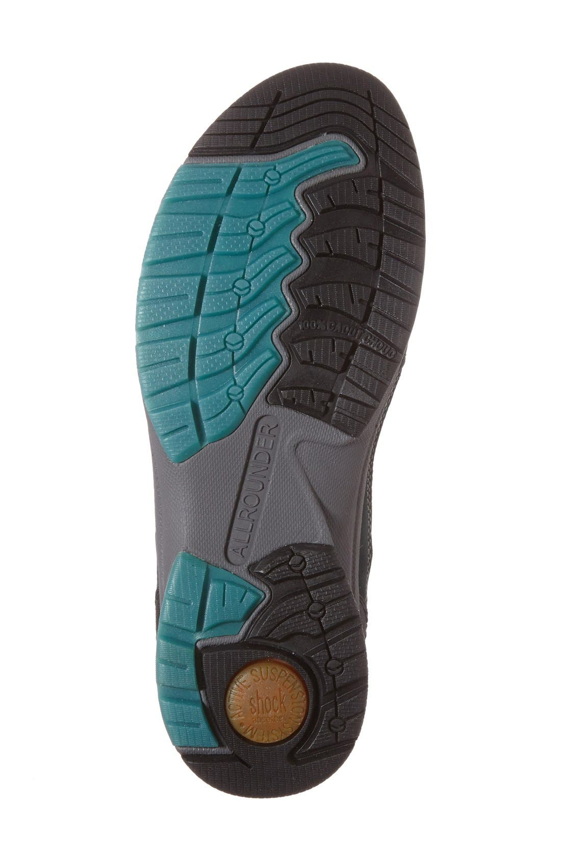 'Dascha Tex' Waterproof Sneaker,                             Alternate thumbnail 4, color,                             Black/ Olive Nubuck Leather
