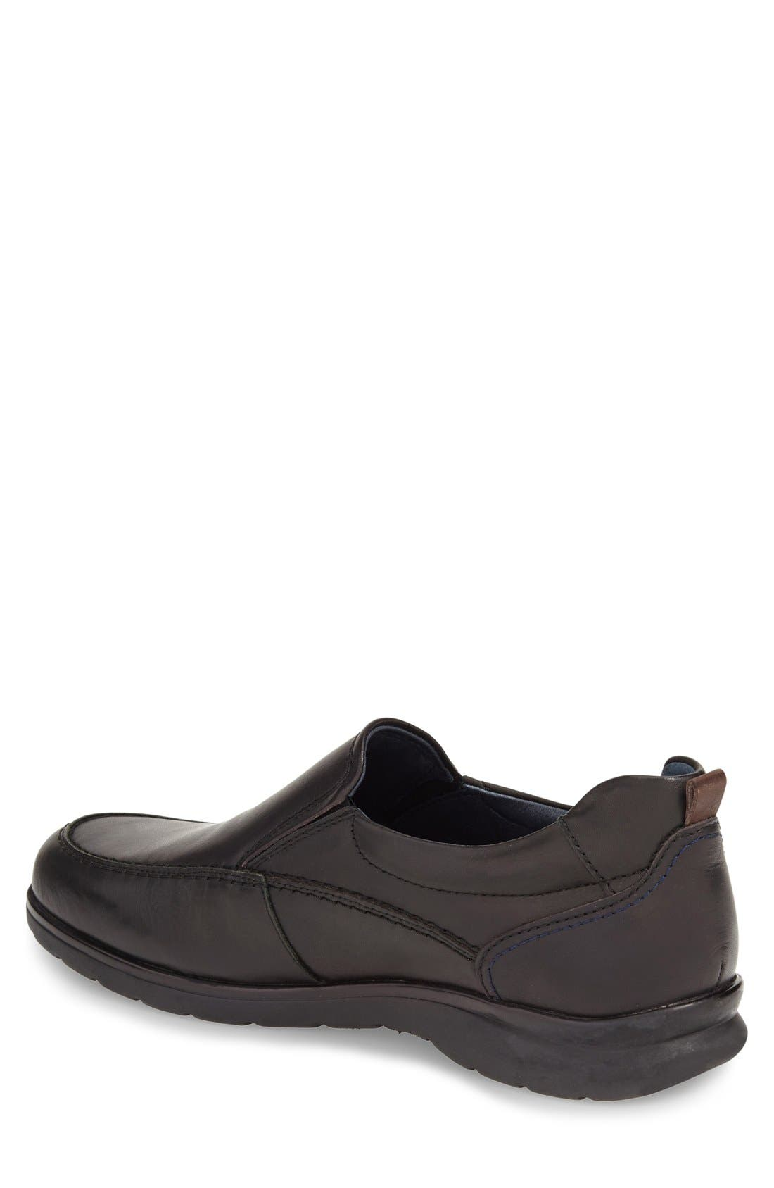 'San Lorenzo' Slip-On,                             Alternate thumbnail 2, color,                             Black Leather