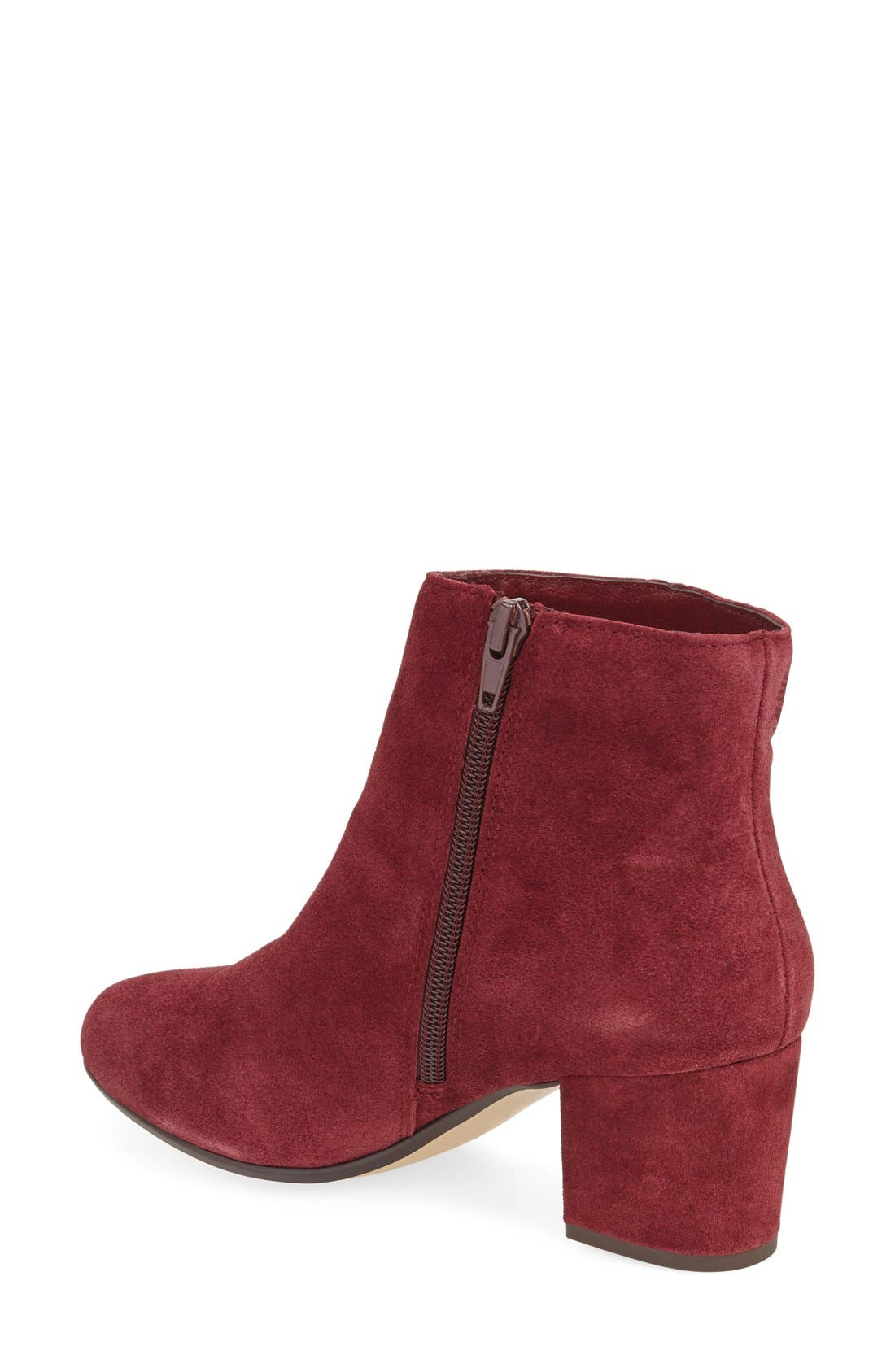 Holster Bootie,                             Alternate thumbnail 4, color,                             Burgundy Suede