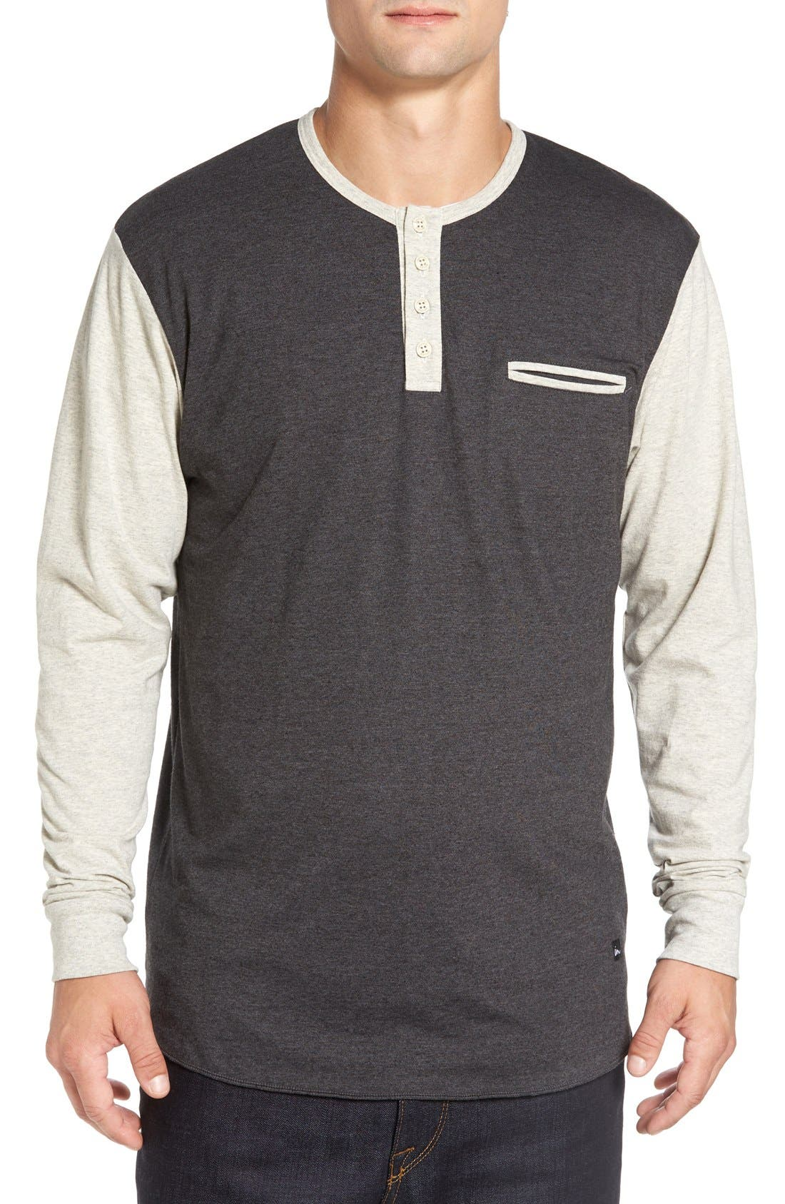 Imperial Motion 'Salvage' Long Sleeve Henley