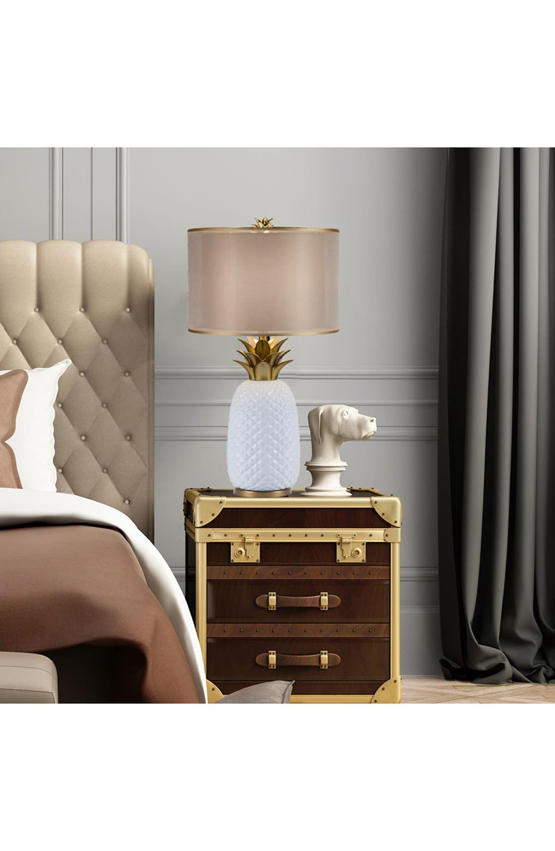 JAlexander Pineapple Lamp,                             Alternate thumbnail 2, color,                             White