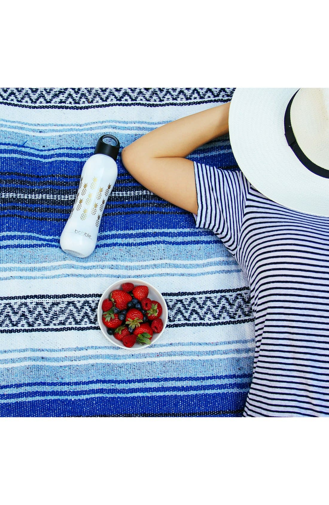 'Pining for You' Stainless Steel Water Bottle,                             Alternate thumbnail 2, color,                             White