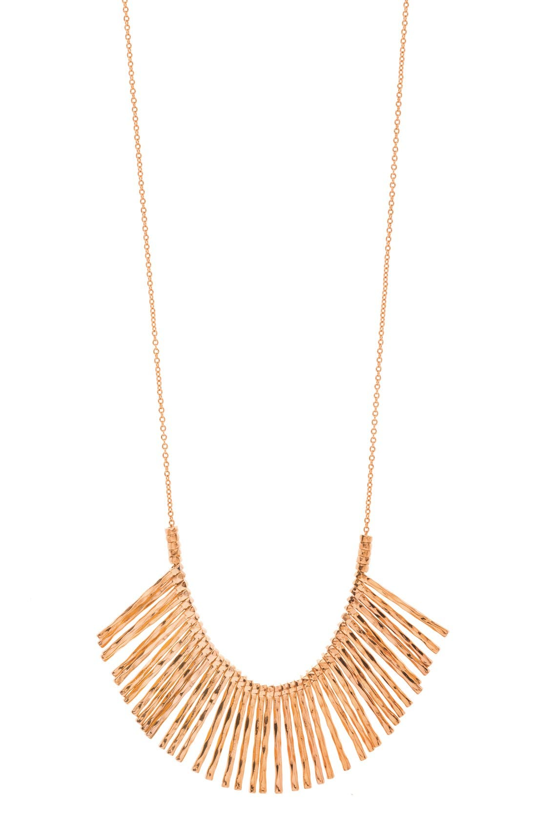 Gorjana Kylie Fan Necklace, Silver