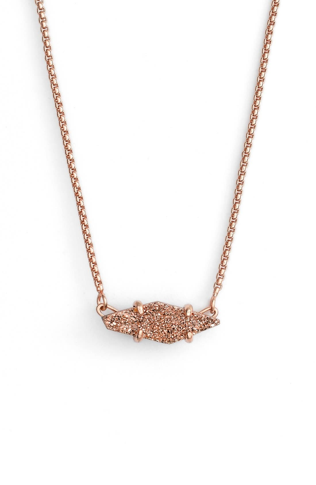 Alternate Image 1 Selected - Kendra Scott 'Bridgete' Drusy Pendant Necklace