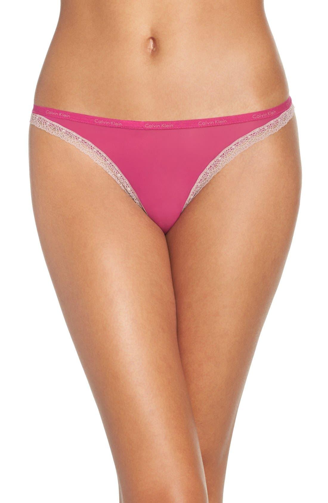 Alternate Image 1 Selected - Calvin Klein 'Bottoms Up' Thong