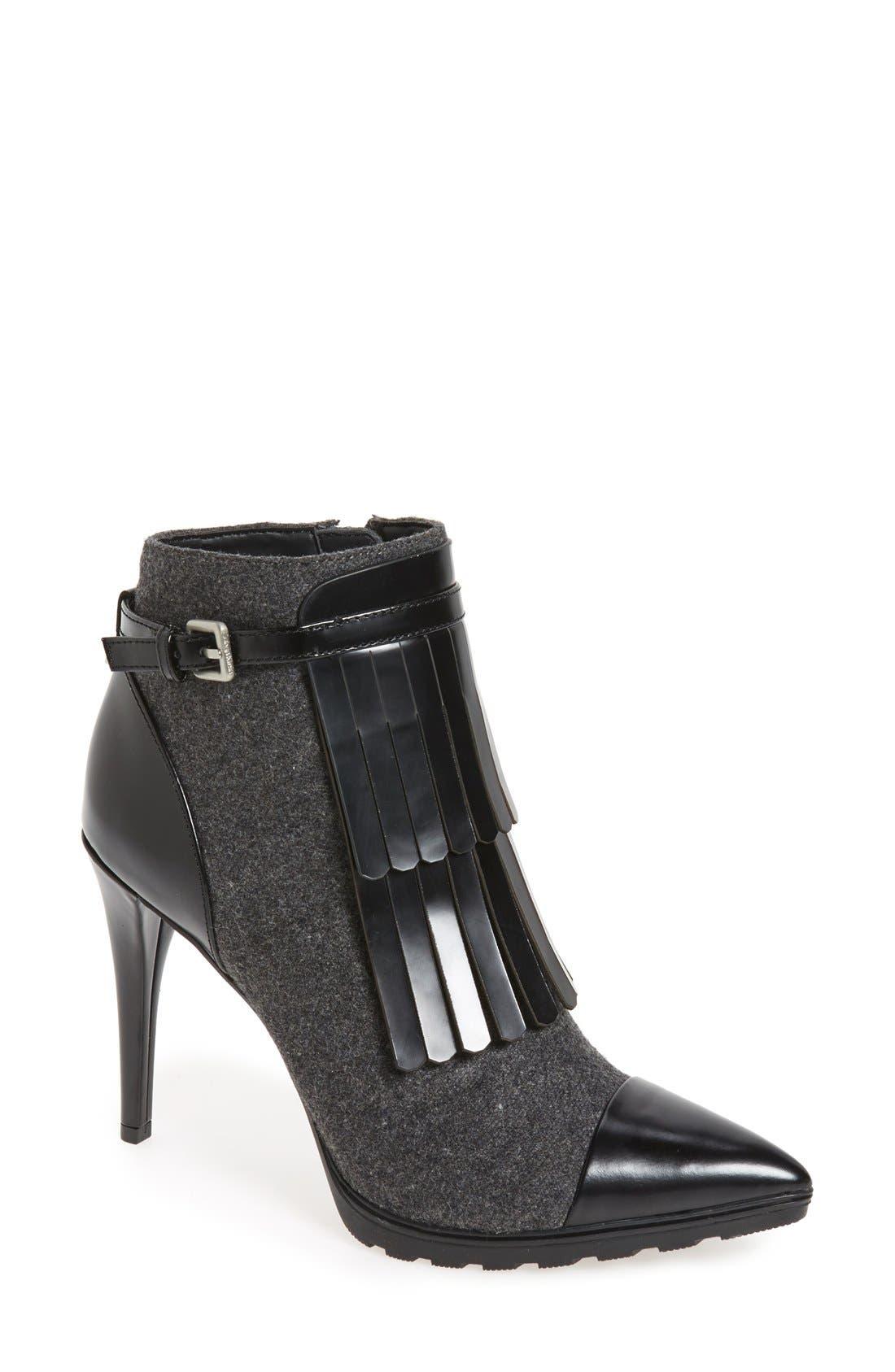 Main Image - Calvin Klein 'Makena' Pointy Toe Kiltie Bootie ...