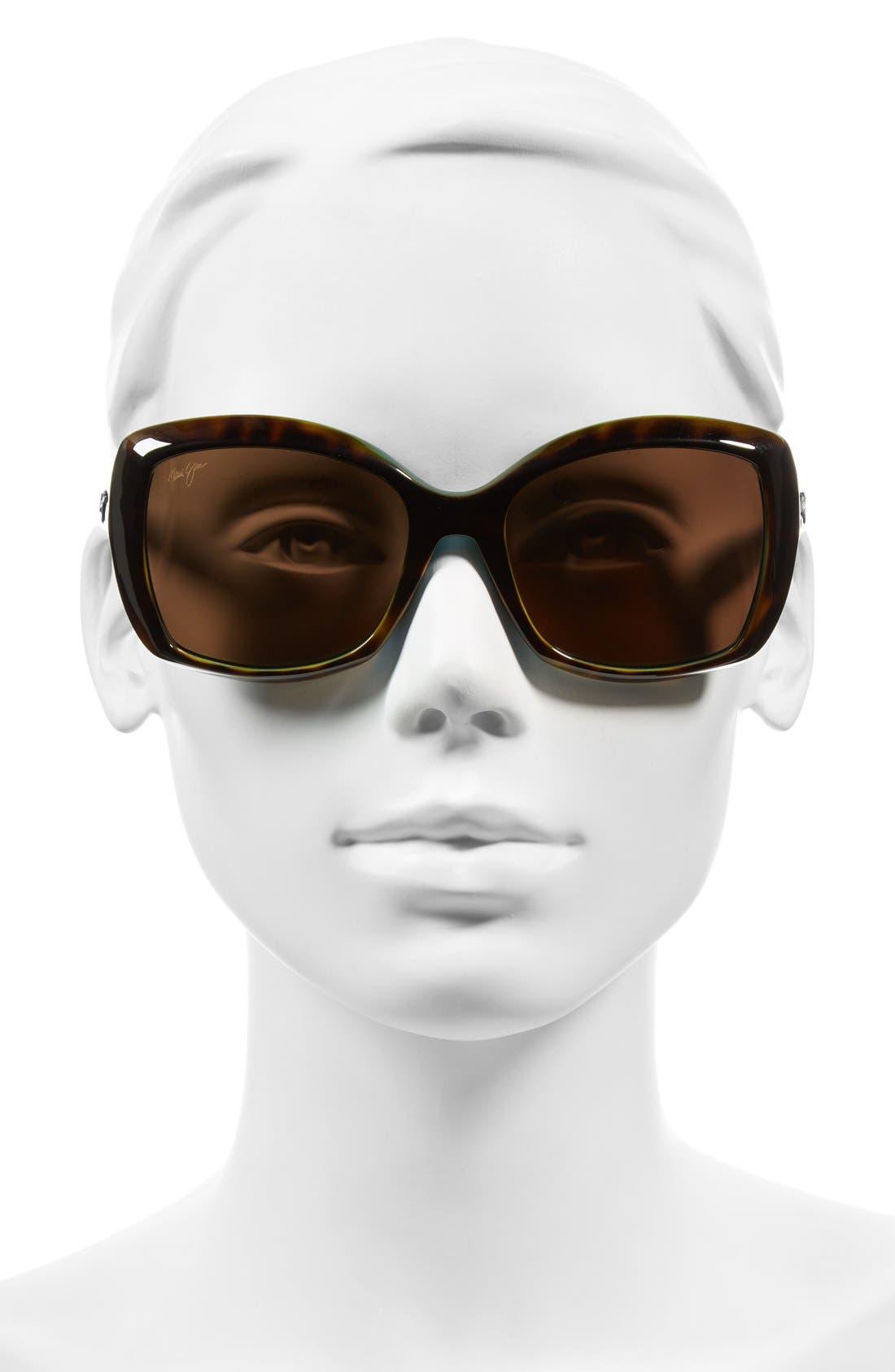 Orchid 56mm PolarizedPlus2<sup>®</sup> Sunglasses,                             Alternate thumbnail 2, color,                             Tortoise Peacock/ Hcl Bronze