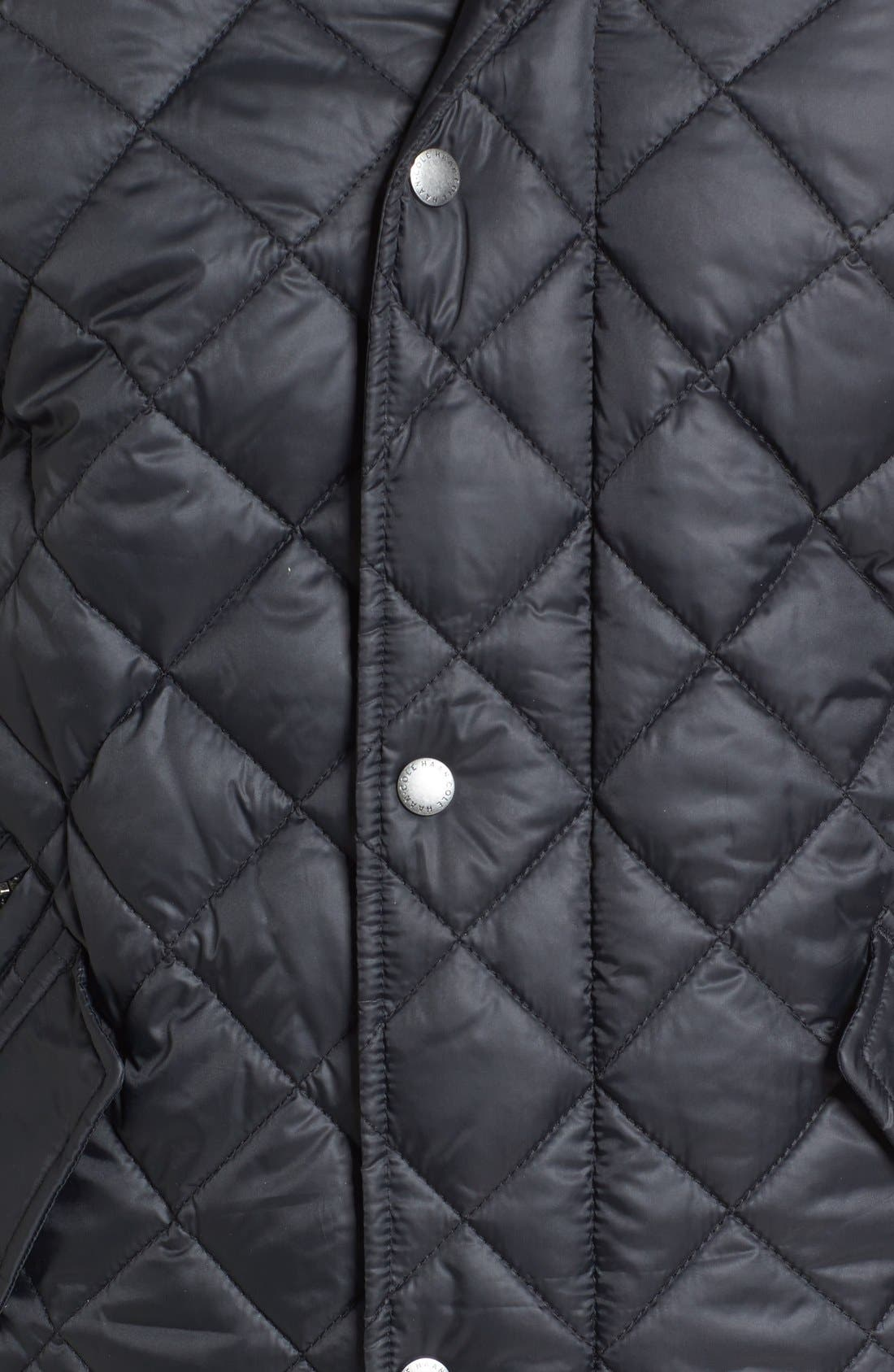 Diamond Quilted Jacket,                             Alternate thumbnail 15, color,                             Navy