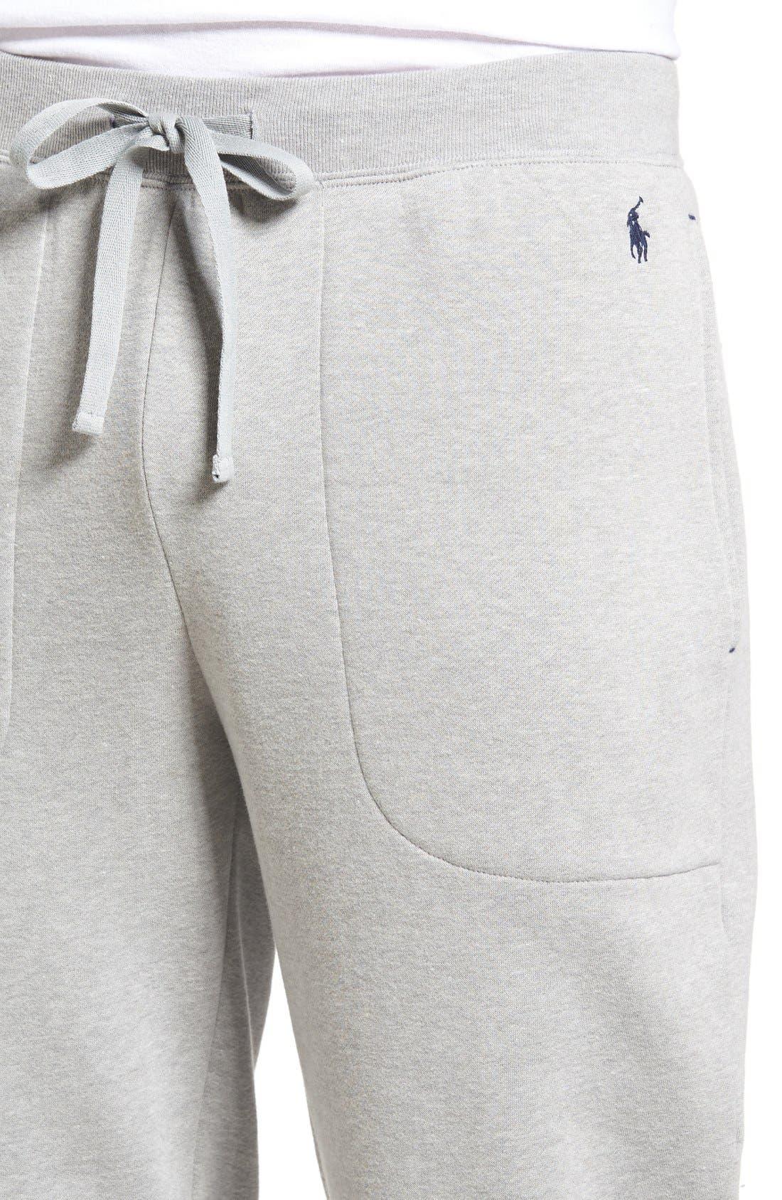 Alternate Image 4  - Polo Ralph Lauren Brushed Jersey Cotton Blend Jogger Pants