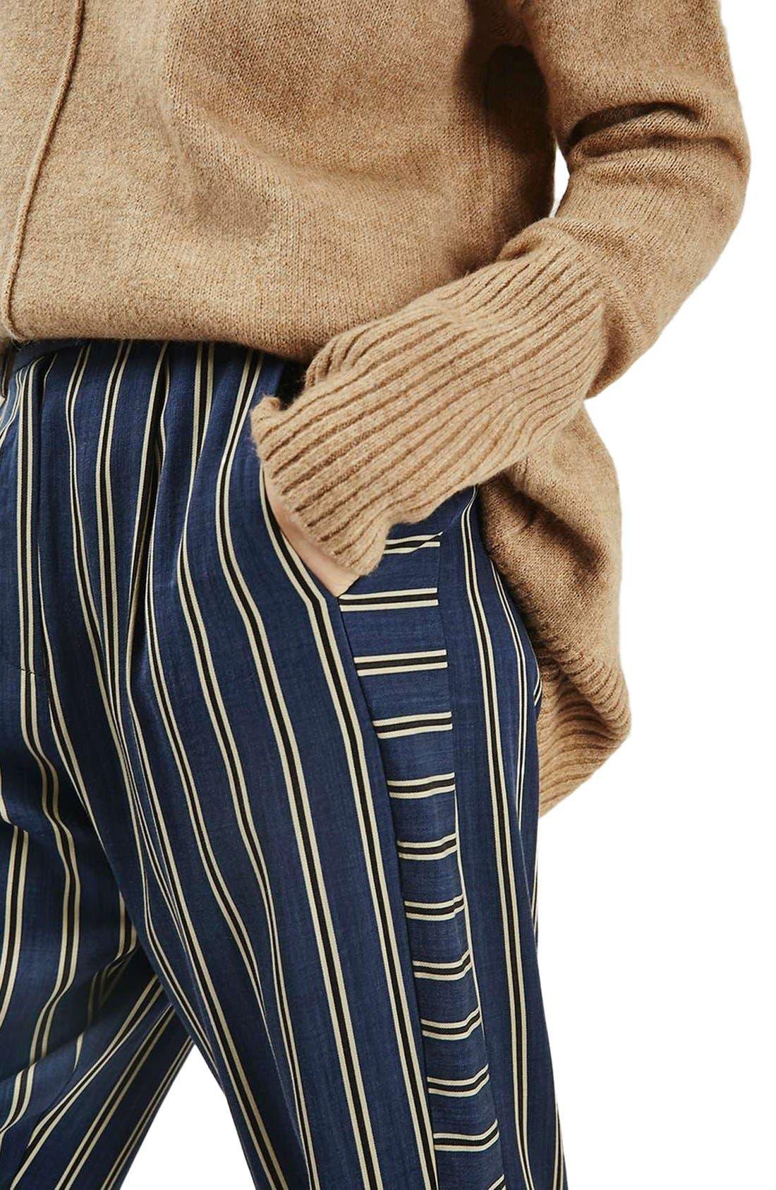 Alternate Image 6  - Topshop Stripe Peg Trousers