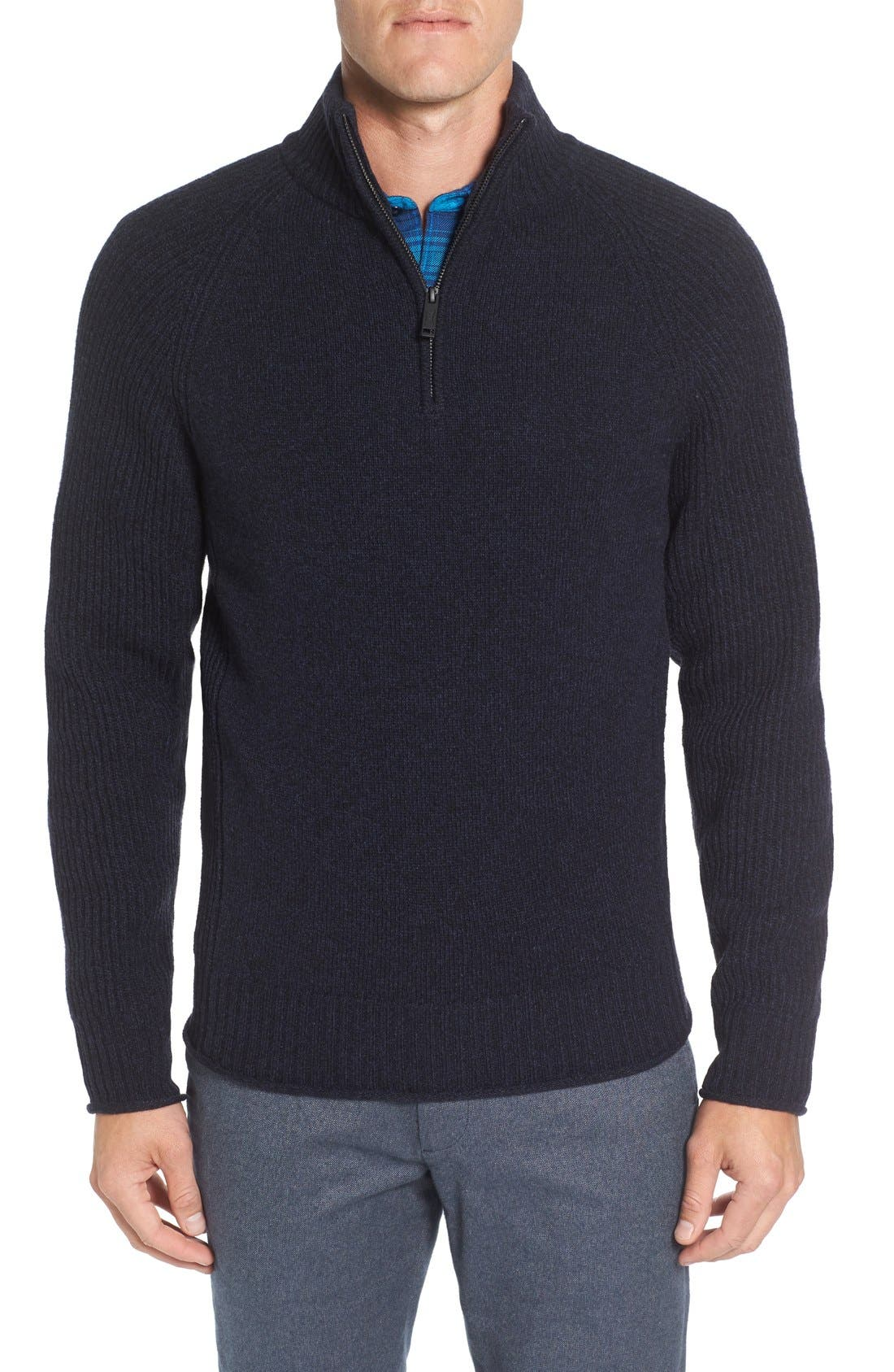 Stredwick Lambswool Sweater,                             Main thumbnail 1, color,                             Midnight