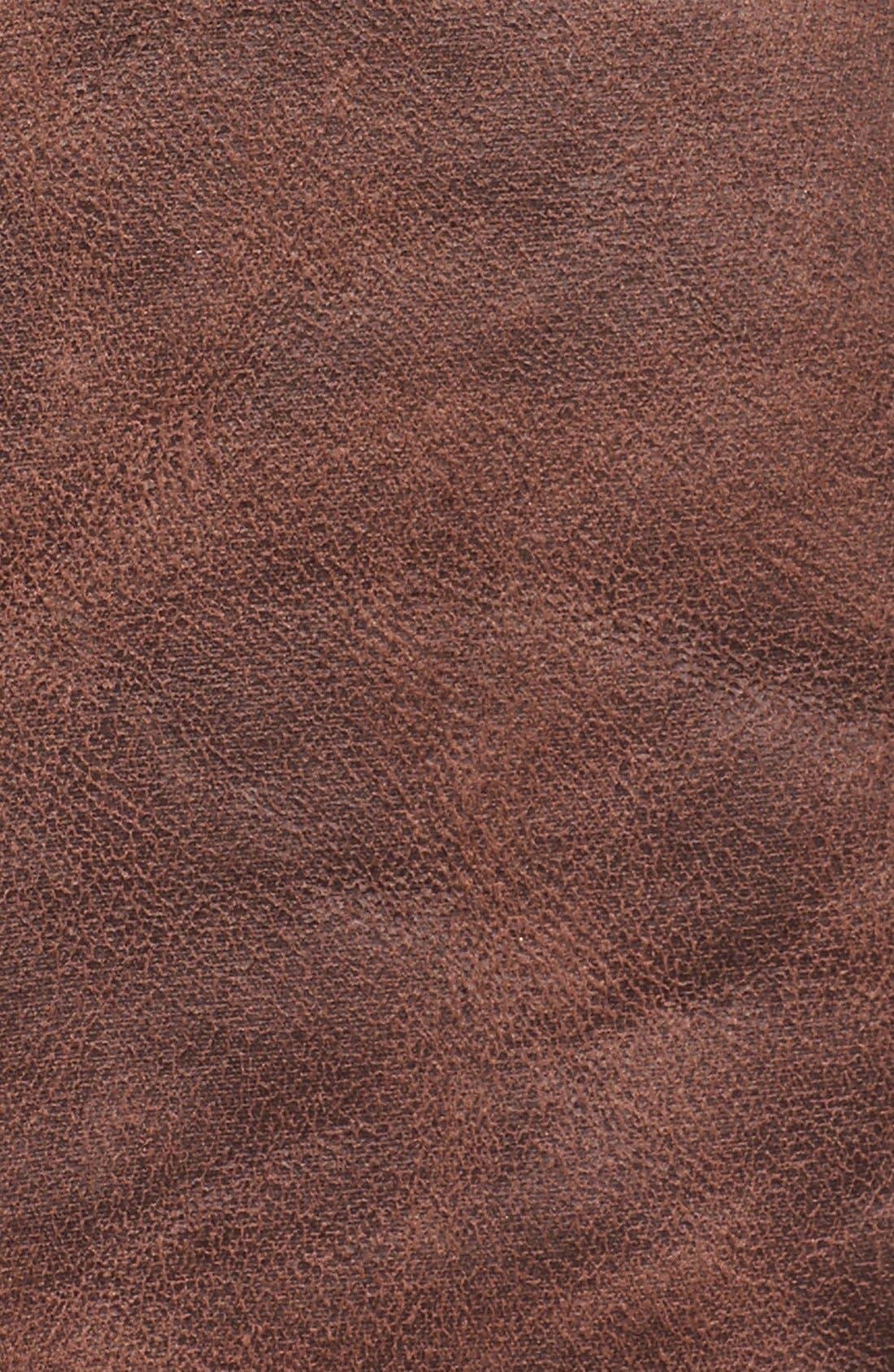 'Abigail' Faux Shearling Coat,                             Alternate thumbnail 5, color,                             Brown