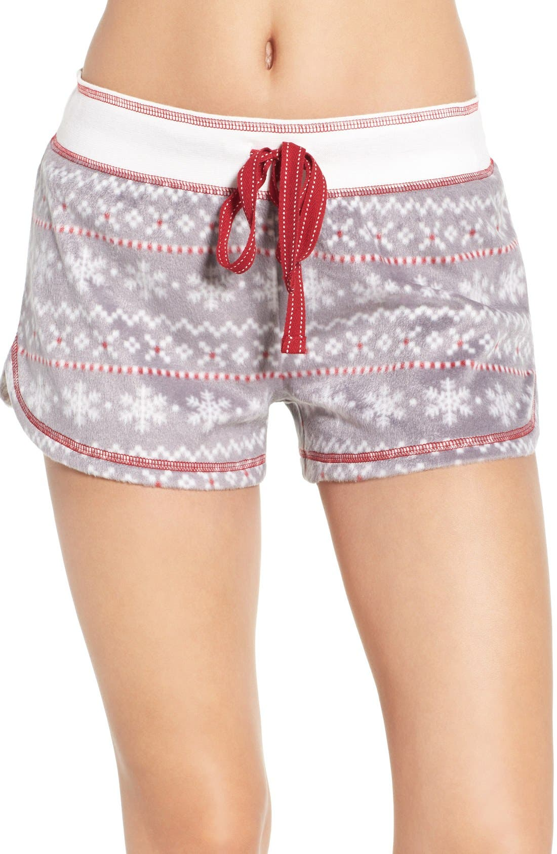 Polar Fleece Shorts,                         Main,                         color, Grey