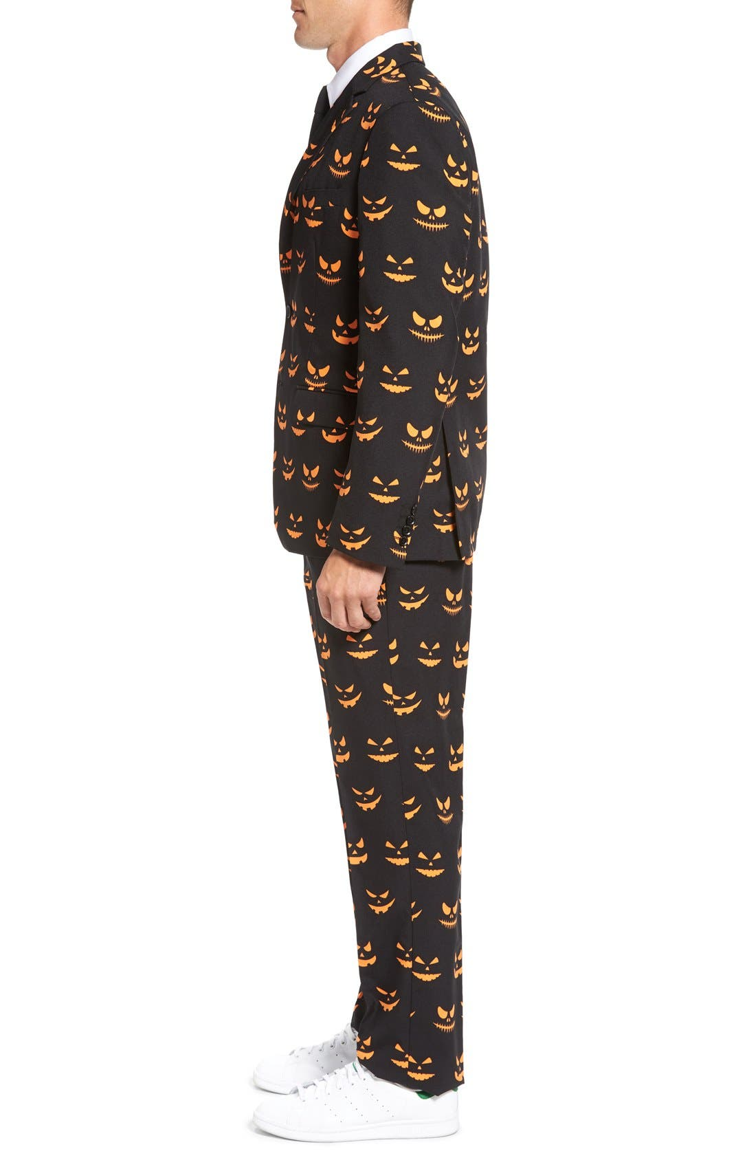 Alternate Image 3  - OppoSuits 'Black-O Jack-O' Trim Fit Suit with Tie