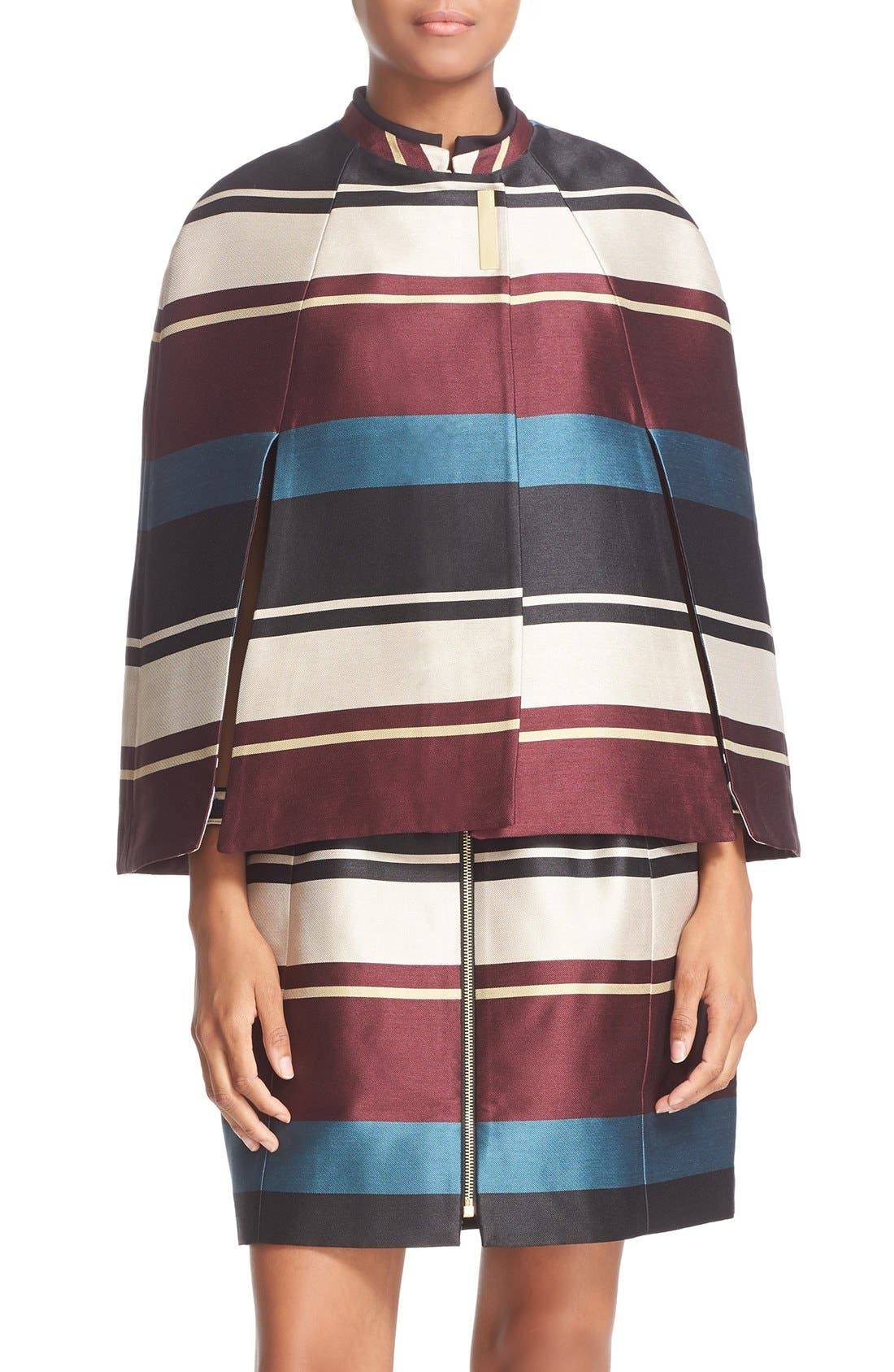 Main Image - Ted Baker London 'Zuavi' Stripe Jacquard Cape