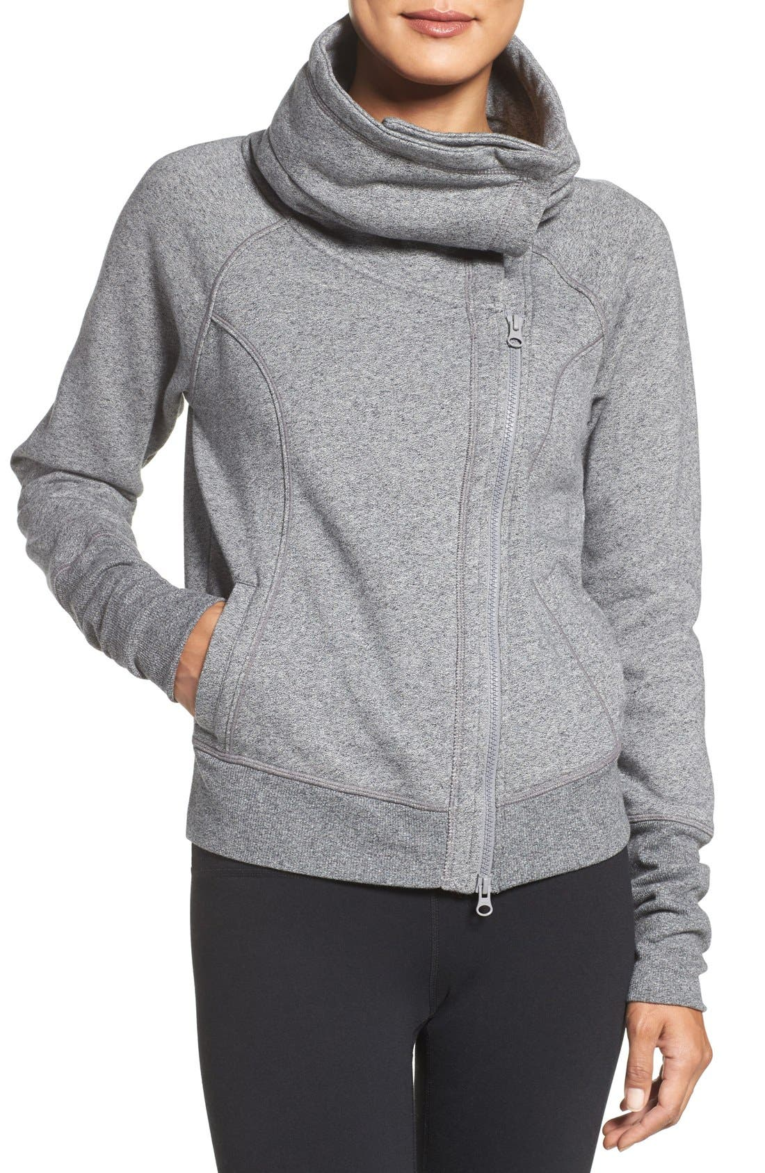 Into Balance Jacket,                         Main,                         color, Grey Blizzard Heather
