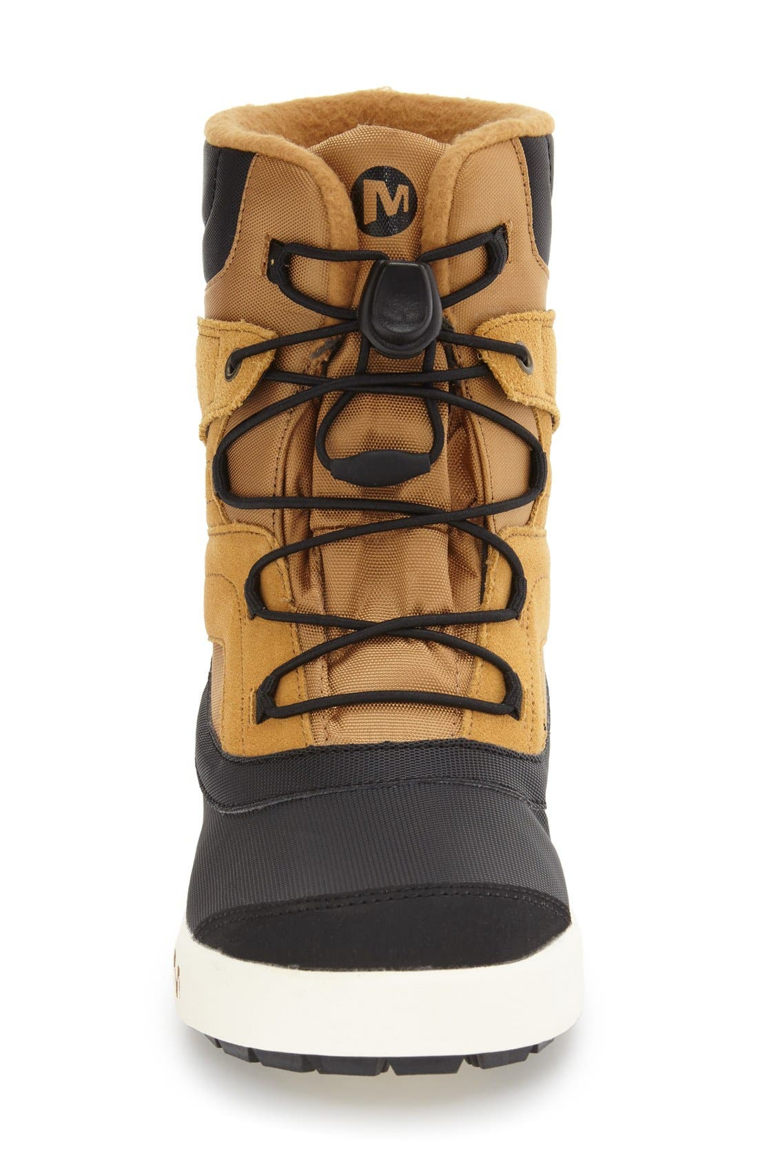 'Snow Bank 2' Waterproof Boot,                             Alternate thumbnail 3, color,                             Wheat/ Black Leather